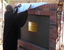 LECSA Moderator Rev. Tšeliso Simeon Masemene unveils the plaque