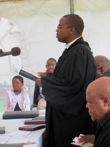 LECSA Administrator Rev. P. K. Tefo leads the service