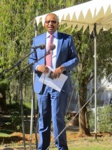 The Honourable Minister of Health Dr. Molotsi Monyamane