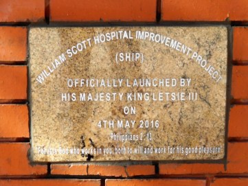 Plaque commemorating launch of SHIP