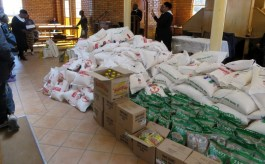 Food aid for distribution at Mafeteng LECSA