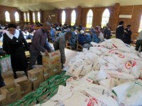 Food aid being distributed at Mafeteng LECSA