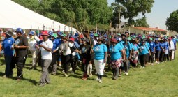 Participants in the walk from Modderport to Morija