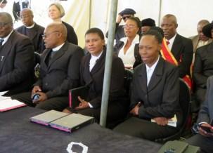 Church service participants