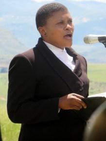 Pastor Mokheseng delivers the sermon
