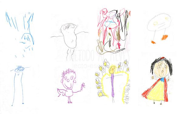 evolución del dibujo en niños de 3 años