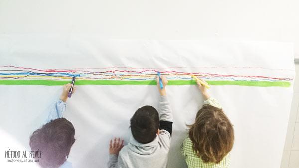 ejercicios línea escritura zurdos y diestros