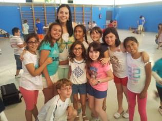 Con la teacher Sonia.