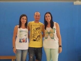 Teacher Alicia, maestro José Manuel y teacher Sonia.
