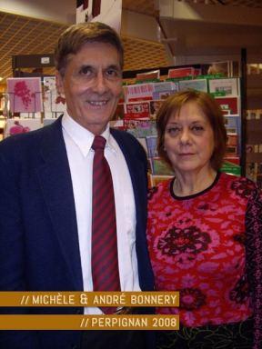 Michèle et André Bonnery à la librairie Torcatis de Perpignan. Photo © Carole R. 2009