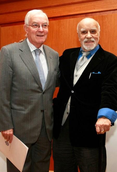 El director del Instituo Cervantes con el dramaturgo Francisco Nieva - Fotografías: instituto Cervantes
