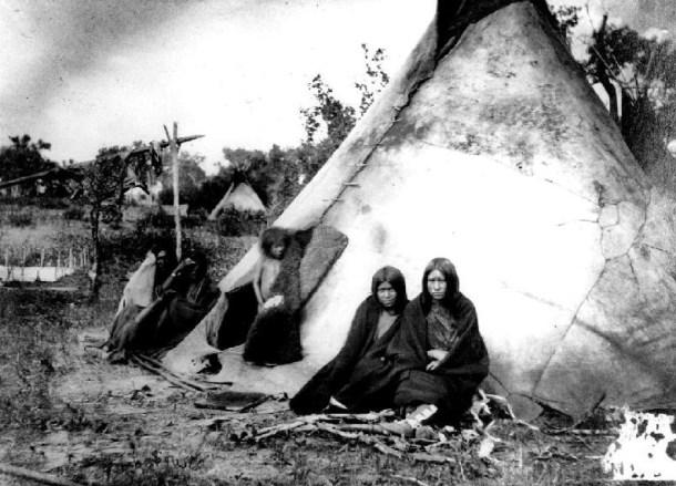 Poblado Arapaho - 1870 - Fuente Fotográfica tomada del