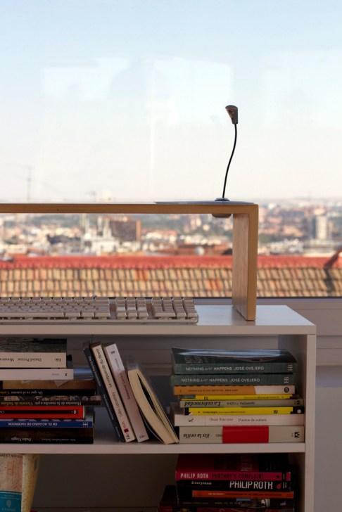 El rincón de lectura de Jose Ovejero. Fotografía: Karina Beltrán © 2013