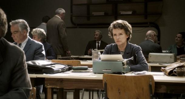 Fotograma de la película de Hannah Arendt dirigida por Margarethe von Trotta y protagonizada por la actriz Barbara Sukowa