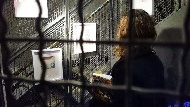 Emma Rodríguez en la exposición