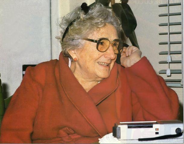 Rosa Chacel en 1984. Fotografía del archivo de la revista Telva.