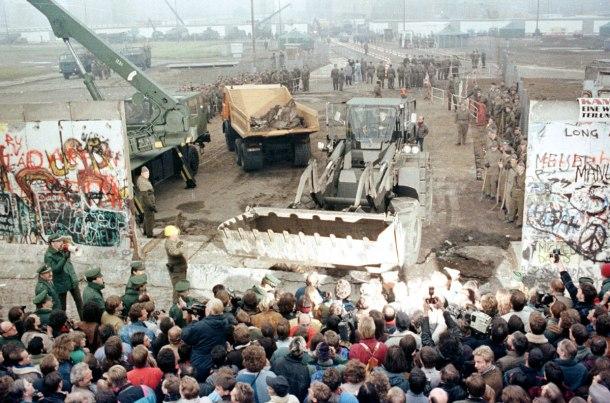 Muro de Berlín. No hemos podido encontrar el crédito de esta fotografía.