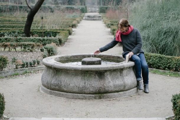 Emma Rodríguez en el Jardín Botánico. Fotografía por Nacho Goberna © 2016