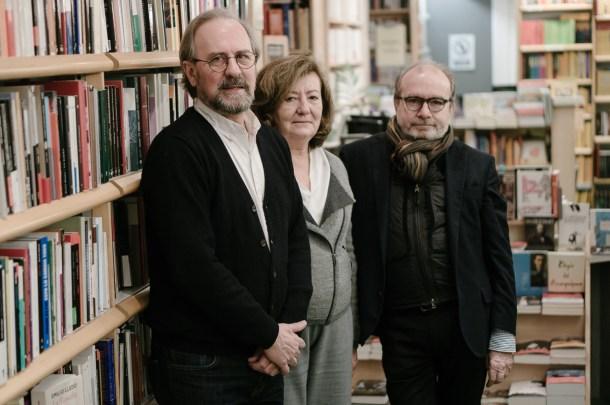 Manuel Ramírez, Silvia Pratdesaba y Manuel Borrás (editorial Pre-textos). Fotografía por Nacho Goberna © 2016