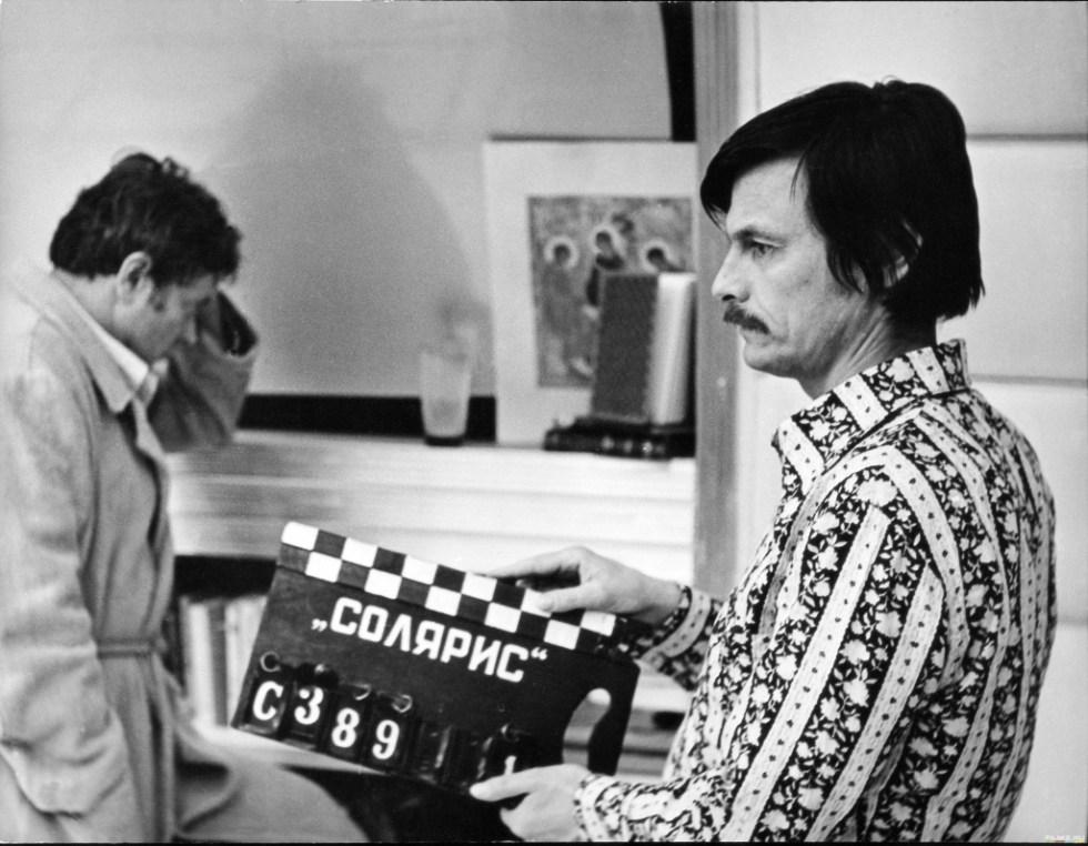"""Tarkovski en el set de su film """"Solaris"""" (1972)"""