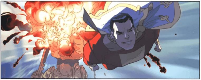 Captain Marvel provoque une explosion