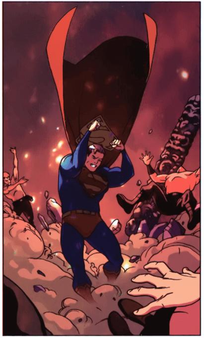 Atterrissage de Superman