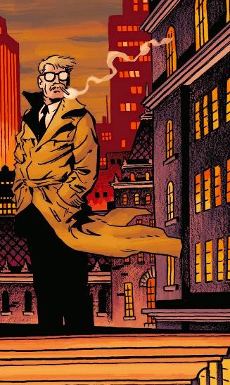 Gordon attendant Batman sur les toits de Gotham
