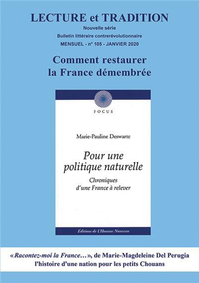 N° 105 (nouvelle série), janvier 2020 : Comment restaurer la France démembrée