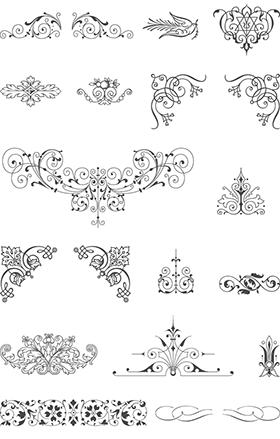 215種類の飾り罫やフレーム等 商用起用可能なベクター素材 Free