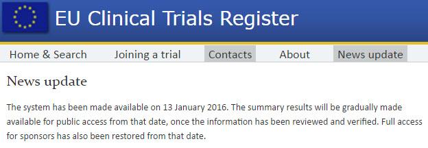 Clinical Trial Registry – European Union (EUDRACT) « AuroBlog