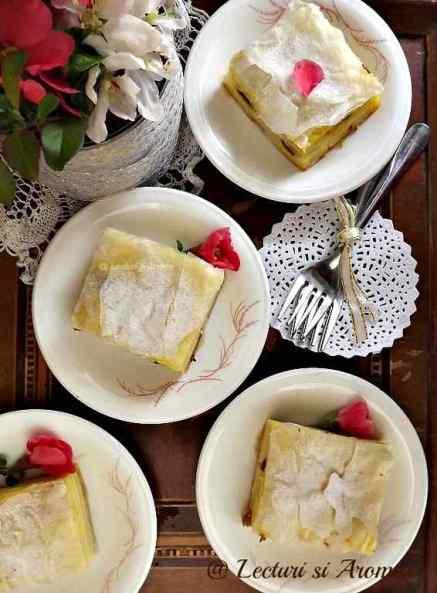 prajitura din foietaj cu iaurt