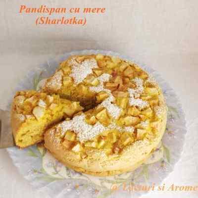 Sharlotka- pandispan cu mere
