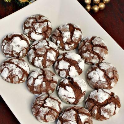 Fursecuri crapate cu ciocolata (crinckles)