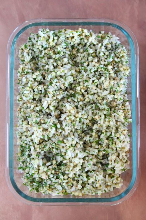 mélange riz et sarrasin