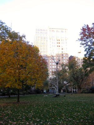 Madison Square Park with art. (Nov 2013)