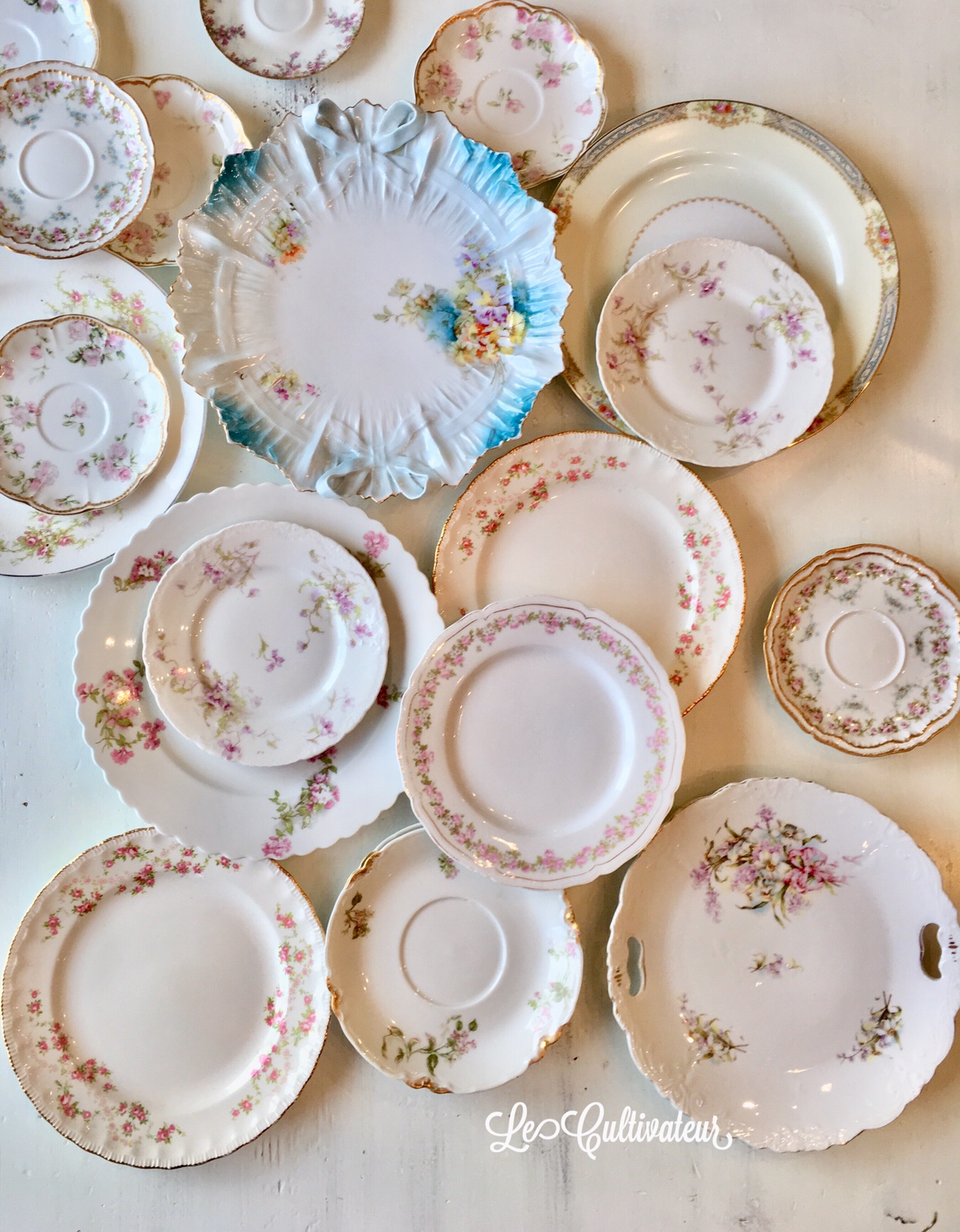 Decorating with plates   plate walls made easy   LeCultivateur I love sifting through the endless stacks of plates at antique shops   trying to find the prettiest ones to take home  Can you really ever have  too many