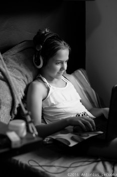 Gaming black and white art photography girl teen preteen