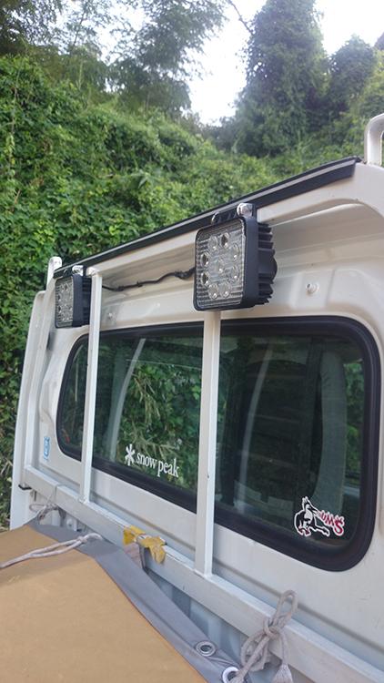 軽トラ・作業灯設置写真