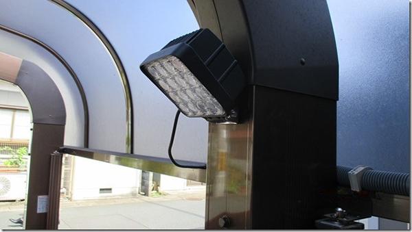 ガレージ 作業灯設置写真