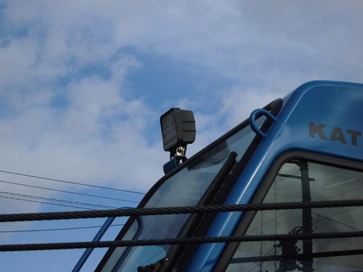 加藤製作所クレーン車・作業灯設置