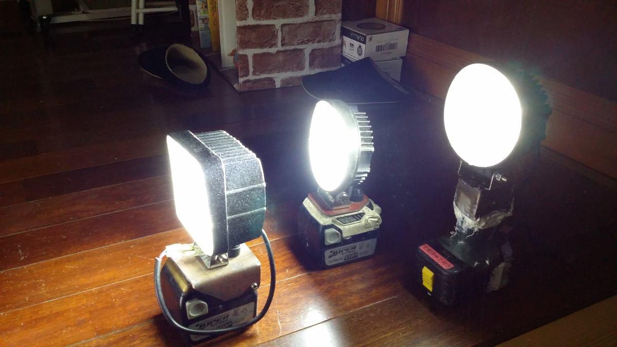 充電式作業灯を【LED作業灯+マキタ充電池】で作成してみました