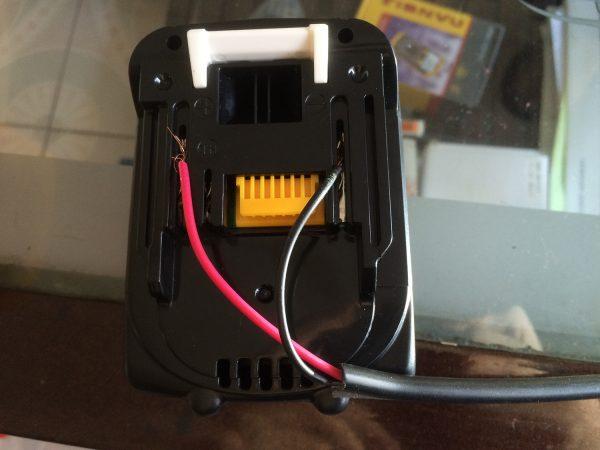 マキタバッテリー・作業灯接続