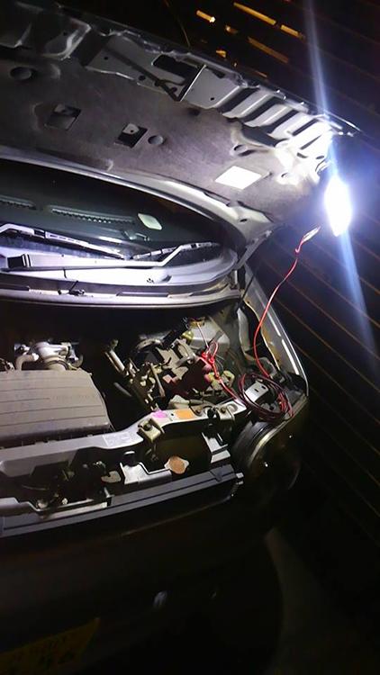 自動車整備 夜間点灯時