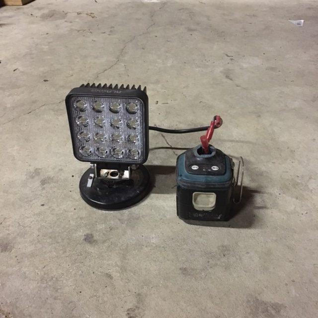 作業灯+パワーツールバッテリー
