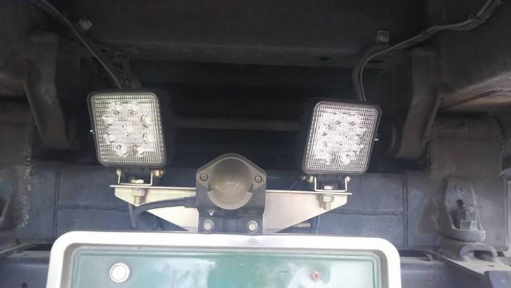 ダンプ・27wLED作業灯1