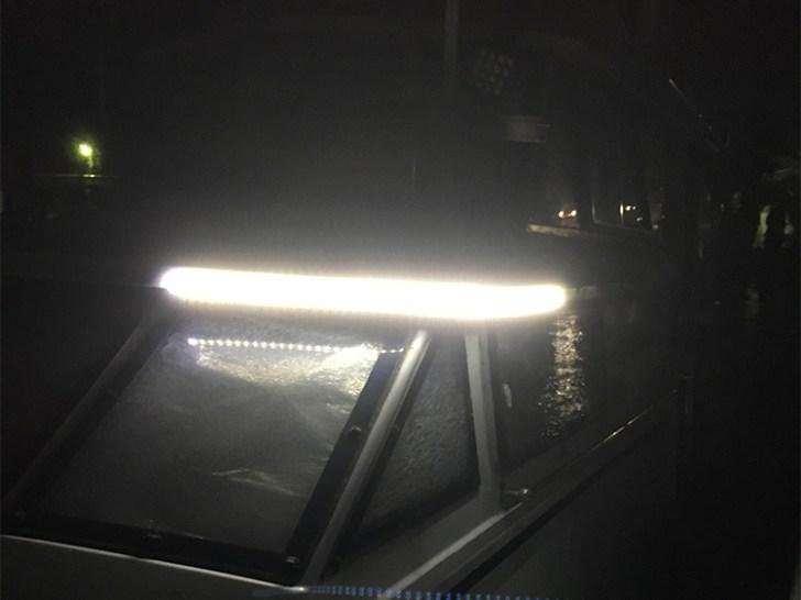 漁船・ledテープライト・作業灯設置時の様子
