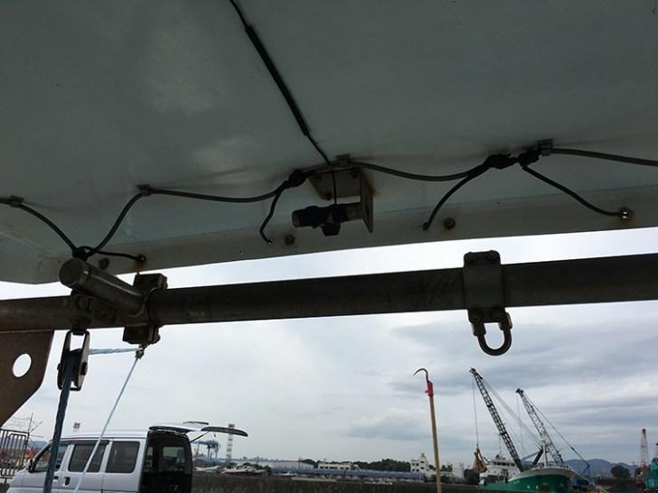 漁船・LED作業灯配線写真