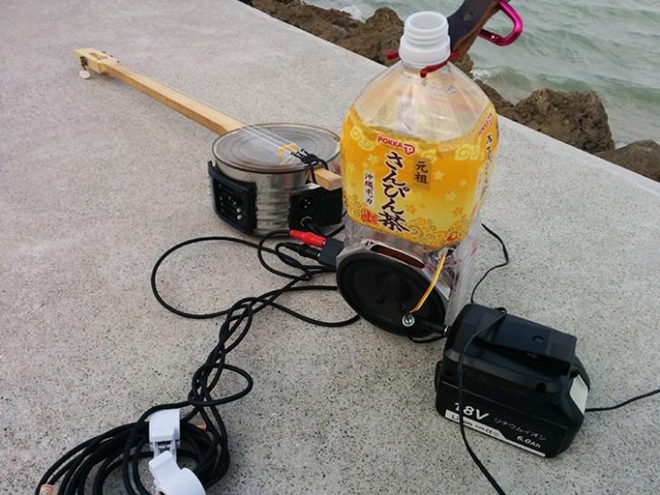マキタバッテリー・スピーカー電源としての活用事例