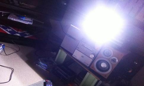 停電時・センサーライト点灯写真