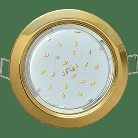 Светильник Ecola GX53 H4 встраиваемый без рефлектора Золото 38×106